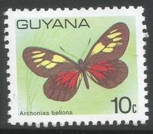 Guyana. 1978 Butterflies. 10c MNH. SG 699 - Guyana (1966-...)