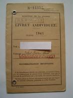 LIVRET MILITAIRE Ancien : MINISTERE DE LA GUERRE 1961 - Documents