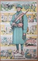 Militaria , Puzzle Complet De 10 Cartes , La Gaité A La Caserne , Illust AP.Jarry  , * 425 00 - Guerre 1914-18