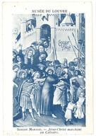 Chromo Musée Du Louvre - Simone Martini - Jésus Christ Marchant Au Calvaire - Autres