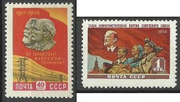 RUSSLAND RUSSIA 1958 Michel 2166 - 2167 MNH - Unused Stamps