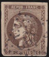France  .   Yvert   .    47    (2 Scans)  .       O          .      Oblitéré - 1870 Emission De Bordeaux