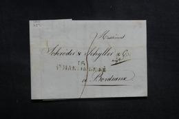 FRANCE - Lettre De St Martin De Ré Pour Bordeaux En 1815 - L 41616 - Marcophilie (Lettres)