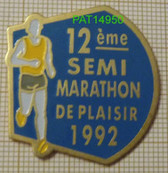 12 ème SEMI MARATHON DE PLAISIR 1992 Dpt 78 YVELINES - Athletics
