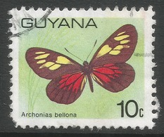 Guyana. 1978 Butterflies, 10c Used. SG 699 - Guyana (1966-...)