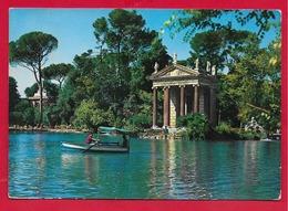 CARTOLINA VG ITALIA - ROMA - Villa Borghese - Il Laghetto - 10 X 15 - 1966 AMB. ROMA MILANO - Parks & Gardens