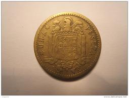 ESPAGNE : UNA (1) PESETA 1947 (Etoile 49 ) - [ 4] 1939-1947 : Gobierno Nacionalista