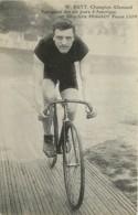 W Rutt Champion Allemand Sur Bicyclette Peugeot Pneus Lion ,  * 425 97 - Cycling
