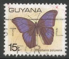 Guyana. 1978 Butterflies, 15c Used. SG 700 - Guyana (1966-...)