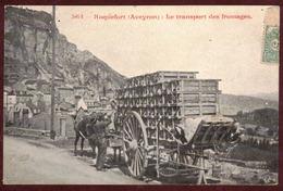 Roquefort-sur-Soulzon Le Transport Des Fromages - Aveyron 12250 - Attelage Roquefort  Arrondissement De Millau N° 564 - Roquefort