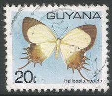 Guyana. 1978 Butterflies, 20c Used. SG 701 - Guyana (1966-...)