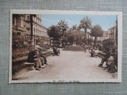 CPA ALGERIE BONE LE SQUARE ANIMEE - Annaba (Bône)