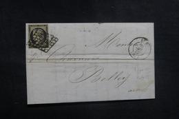 FRANCE - Affranchissement Cérès 20ct Noir Sur Lettre Pour Belley En 1850 - L 41619 - 1849-1876: Classic Period