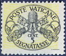 Vatican City (Coat Of Arms-1946) 5c. Error: Yellow Color Shifted Towards Upper-Left Side (MNH) - Errors & Oddities