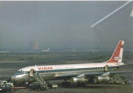 VIASA Venezuelan International Airways Douglas DC8 PH-DCH Aereo Aviation Airplane KLM At JFK - 1946-....: Era Moderna