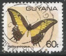 Guyana. 1978 Butterflies, 60c Used. SG 705a - Guyana (1966-...)