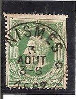 Belgique N°30 DEPOT RELAIS * Nismes * - 1869-1883 Léopold II