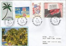 LA DESIRADE.,île Française Des Petites Antilles, LETTRE Adressée Andorra 2019, Avec Timbre à Date Arrivée - Antilles