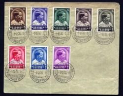 LETTRE- SÉRIE COMPLETE TIMBRES SUR LETTRE N°438 A 445- PRINCE BAUDOUIN- CAD 1-12-1936 - Blocs 1924-1960