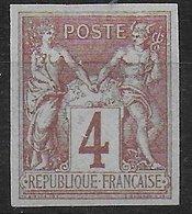 SAGE - YVERT N° 88 C (*) NSG NON DENTELE SIGNE BRUN + ROUMET - SUPERBE - 1876-1898 Sage (Type II)