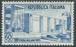 1952 ITALIA FIERA DI MILANO MH * - UR37-4 - 1946-60: Nuovi