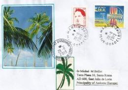 île De Saint-Martin (Antilles Françaises), LETTRE Adressée Andorra 2019, Avec Timbre à Date Arrivée - Antilles
