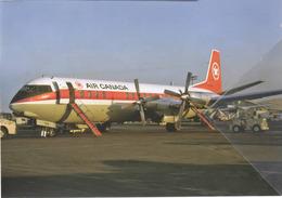 Air Canada Airlines Vickers 952 Vanguard CF-TKN Aereo Aviation Airplane At JFK - 1946-....: Era Moderna