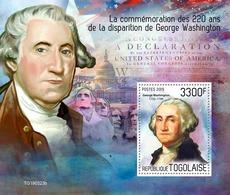 Togo. 2019  220th Memorial Anniversary Of George Washington. (0323b)  OFFICIAL ISSUE - George Washington