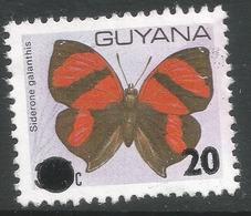 Guyana. 1982 Butterflies Overprinted, 20c On 35c Used. SG 918 - Guyana (1966-...)