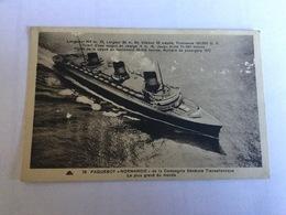 Le Normandie .paquebot - Steamers