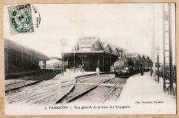 X13276 TARASCON Bouches-du-Rhone Train Entrant En Gare Des Voyageurs Vue Générale Photo BLANCHIN 9 - Tarascon