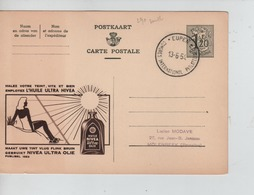 PR6867/ Entier CP Publibel 1283 Nivéa C.Eupen Congrès International Philatélique 13/6/54 > Molenbeek (BXL) - Stamped Stationery