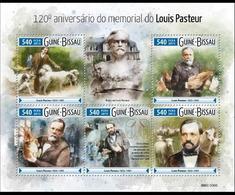 Guinée Bissau 2015 Louis Pasteur Dog Chien MNH - Louis Pasteur