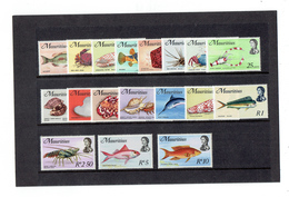 TP - OCEAN INDIEN - ILE MAURICE N° 329 A 346 - XX LUXES - TTB - 1969 - Maurice (1968-...)