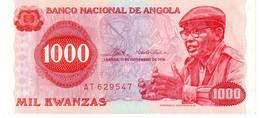 Angola P.113 1000 Kwanzas 1976 Vf - Angola