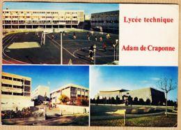 X13348 Peu Commun SALON-de-PROVENCE Lycée Technique ADAM-CRAPONNE Terrains Sports Multivues 1970s LA CIGOGNE - Salon De Provence