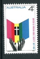 Australia 1967 150th Anniversary Of British & Foreign Bible Society MNH (SG 409) - 1966-79 Elizabeth II