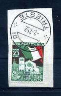 1952 TRIESTE ZONA A SET USATO FRAMMENTO - Usati