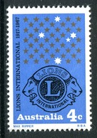 Australia 1967 50th Anniversary Of Lions International MNH (SG 411) - Mint Stamps