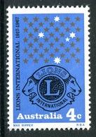 Australia 1967 50th Anniversary Of Lions International MNH (SG 411) - 1966-79 Elizabeth II