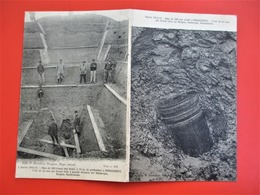 Rare Cpa 2 Volets Obus De 380 Non éclaté HONDSCHOOTE,  Bergues, Dunkerque - TBE - Ecrite En 1916 - Guerre 1914-18