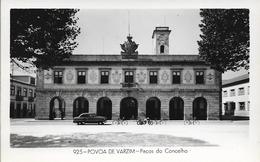 CPSM. POVOA DE VARZIM. PACOS DO CONCELHO. VOITURE ANCIENNE. - Porto