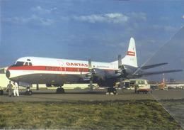 Qantas Australia Airlines Lockheed L-188C ELECTRA VH-ECD Costellation Aviation Airplane - 1946-....: Era Moderna