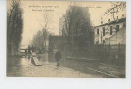 NEUILLY SUR SEINE - Crue De Janvier 1910 - ILE DE LA JATTE - Boulevard D'Asnières - Neuilly Sur Seine