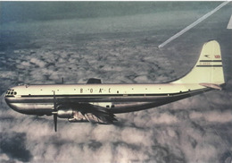 BOAC Boeing 377 Stratocruiser G-AKGH Aereo Aviation Airplane British Overseas Airways Corporation - 1946-....: Era Moderna