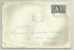 FRANCOBOLLO LIRE 25 EUROPA 1953 SU BUSTA - 6. 1946-.. Repubblica