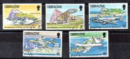 Serie De Gibraltar N ºYvert 379/83 (o) AVIONES (PLANE) - Gibraltar