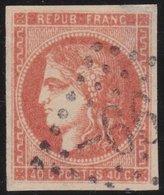 France  .   Yvert   .    48    (2 Scans)   .    Aminci    .       O          .      Oblitéré - 1870 Emission De Bordeaux