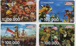 INDONESIA - INDOMARET - VOUCHER GIFT CARD - LOT 4 CARDS - Indonesië