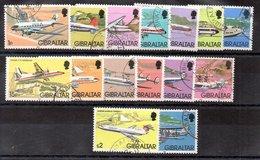 Serie De Gibraltar N ºYvert 439/53 (o) Valor De Catálogo 45.0€ AVIONES (PLANE) OFERTA (OFFER) - Gibraltar